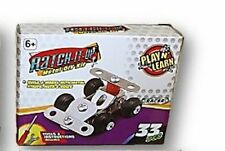 Ratch-It-Up DIY Metal Model Kit - Plane or Race car YOUR CHOICE
