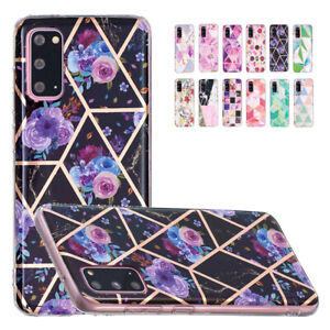 For Samsung Galaxy S20 FE S21 Ultra + Marble Phone Case Anti-shock TPU Cover
