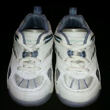 Girls toddler white blue leather Stride Rite sneakers shoes size 5 EUC!!!