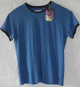 Blue XL Cotton T Shirt New Mitch Dowd Navy Quality Big Men Crew Neck Sleep Tee