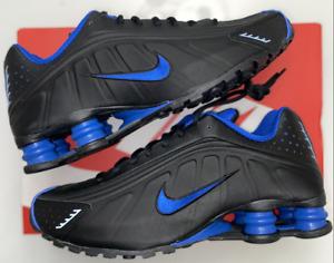 Nike Shox R4 Black Game Royal Blue 2019 Sneakers 104265-053