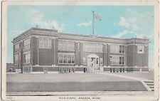 Maine Me Postcard c1910 MADISON High School Building