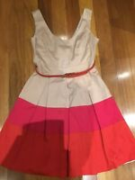 REVIEW DRESS Size 8 Pink Orange Fit Flare Very Good Condition P5OFF 5%