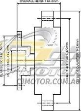 DAYCO Fanclutch FOR Holden Rodeo 1984 - 1987 1.9L 8V Carb KB43 G200Z