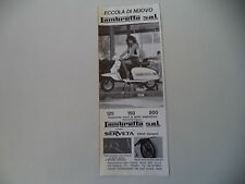 advertising Pubblicità 1984 LAMBRETTA SERVETA 125/150/200