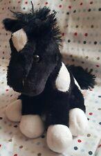 "DAN DEE Collector's Choice Black & White Horse Pony Plush Stuffed 9 - 9.5"" Tall"