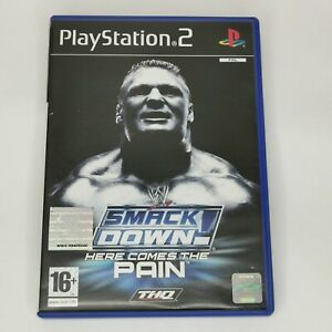 PLAYSTATION 2 - SMACKDOWN - HERE COMES THE PAIN - COMPLETE WITH MANUAL FREE P&P