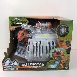 Untamed Jailbreak Krypton Playset Cage T Rex Dinosaur Orange/Blue NEW WowWee Toy