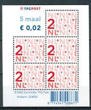 Nederland  NVPH V2034b  velletje met logo TPG post I-fosfor 2002