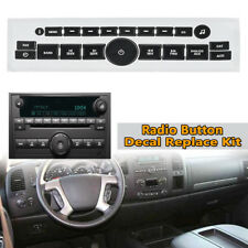 For 2007-14 Chevy GM Buick Saturn Radio Button Decal Sticker Repair Replace Kit
