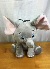 FIESTA  PLUSH grey ELEPHANT GRAY PINK FLOPPY LOVEY SOFT CUTE  LOVEY BABY