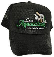 LOS AGUACATEROS DE MICHOACAN MEXICO HAT BLACK  GORRA DE PALMA Y TRUCKER NEW HAT
