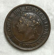 Canada 1884 Large One Cent 1 Cent EF