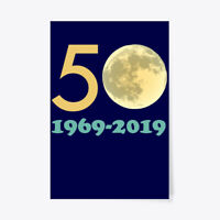 """Comfy 50th Anniversary Moon Landing Gift Poster - 24""""x36"""" Gift Poster - 24""""x36"""""""
