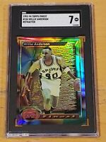 1993-94 Topps Finest Refractor #154 Willie Anderson SGC 7 Newly Graded