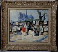 Simon Van Gelderen, 1950, Bénézit, Grosse Cote! Paris! Les Bouquinistes!