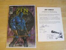 Zen Intergalactic Ninja Color Special #0 Signed Steve Stern Special DNA pen COA