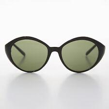 Round Women's Cat Eye Vintage Sunglasses Black/Green - Ginger