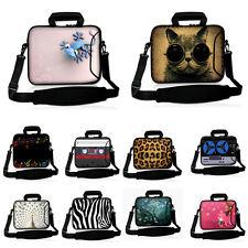 """Black 17"""" 17.3"""" Laptop Shoulder Bag Sleeve Case+ Pocket For Dell Alienware M17x"""