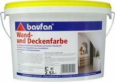 Baufan Wand- und Deckenfarbe 2,5 l weiß Innen-Wandfarbe wischfeste Innenfarbe