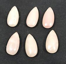 Natural PINK OPAL tear drop bead / strand 10mm(w) x 21mm(l) - 6 beads