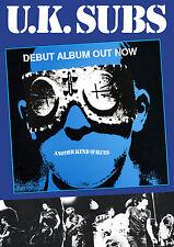 UK SUBS Punk Retro Poster Size 84.1cm x 59.4cm-approx 34''x 24''