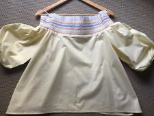 Peter Pilotto Off Shoulder Top Current Collection Size 8 Au Or Uk