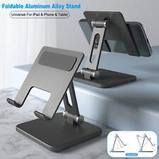 Metal Mobile Phone Tablet Holder Folding Desk Stand For iPad Pro iPhone Samsung