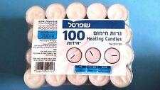 Heating Candles 100pcs Small White Candles Kosher 4 Hours Jewish Shabat Original