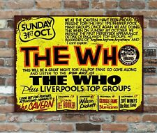 The Who Cavern Liverpool Retro Vintage Metal Wall Sign