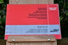 DEUTZ FAHR M660 M770 COMBINE HARVESTER PARTS LIST ENG D F 0890060702.561