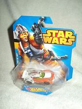 Figura De Acción Star Wars Hot Wheels Vehículo Luke Skywalker coche