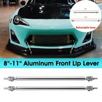 2PCS Adjustable Car Front Bumper Lip Splitter Strut Rod Tie Support Bar For