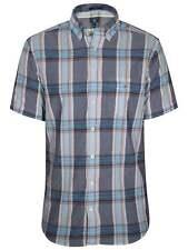 GANT Persian Blue Check Regular Short-sleeve Shirt M
