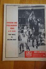 1979 PRELIM FINAL VFA RECORD PORT MELB v GEELONG WEST