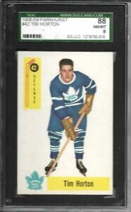 1958ParkhurstTimHorton42SGC 88Maple Leafs469