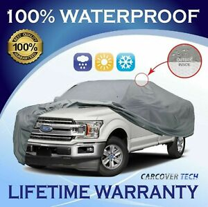 100% Weatherproof Full Pickup Truck Cover For Ford F-150 [2000-2021]