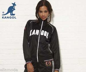 Kangol Black White & Pink or Blue & White Retro Tracksuit Top Jacket  Free Ship