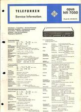 Telefunken Service Manual für Opus hifi 7050     .