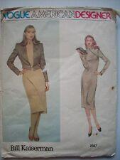 Vogue designer Bill Kaiserman Original Dress with Jacket Size 14 pattern 2367
