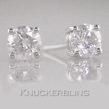 1.50ct Certified Diamond Studs F VVS2 Exc Round Brilliant Solitaires in Platinum