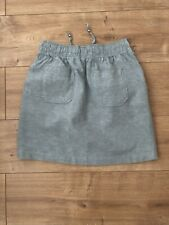 Ladies Pale Khaki Green Linen Skirt Size 10
