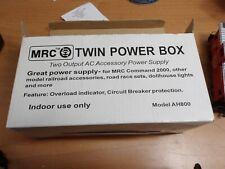 MRC Model Railroad Twin Power Box - Black AH800 NEW, (5324)