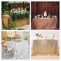 Rectangle Sequin Table Cloth Glitter Sparkly Bling Table Cover Wedding Party DIY