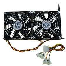 Ultra Quiet Dual GPU Fan Partner PC Chassis VGA PCI-e Graphics Video Card Cooler