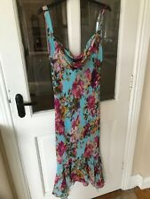 James Lakeland occasion dress body con floral size 12 midi lined