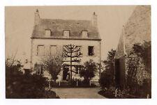 PHOTO ANCIENNE Habitat Architecture Maison Vers 1890 Arbre Façade Jardin