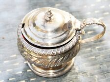 Sterling Silver Jam Jar with lid and red glass insert (150.20 grams)