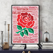 More details for england rugby legends world cup word art keepsake/gift/collectable freepostuk