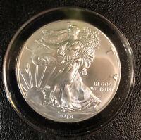USA American Silver Eagle 2018 Walking Liberty $1 Dollar Coin 1 oz Silver .999